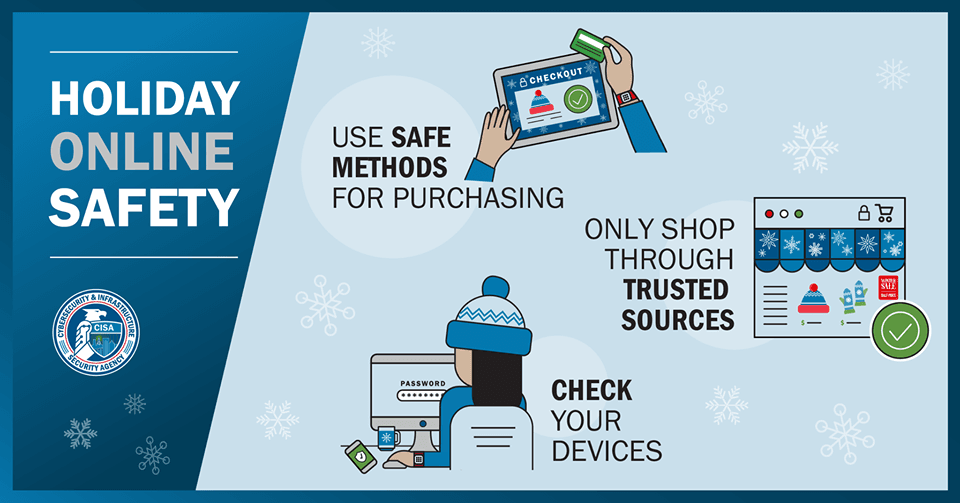 Shop safely_CISA infographic